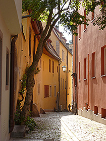 kleine Gasse in Rothenburg